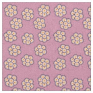 Tecido floral e de estrela do teste padrão