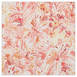 Tecido Floral Painterly do pêssego da LUXÚRIA do LÍRIO
