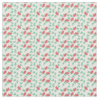 Tecido floral vermelho das videiras