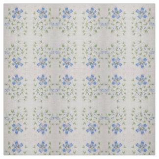 Tecido Flores azuis delicados pintadas na aguarela