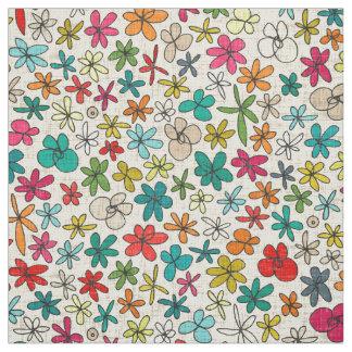 Tecido flores de festão