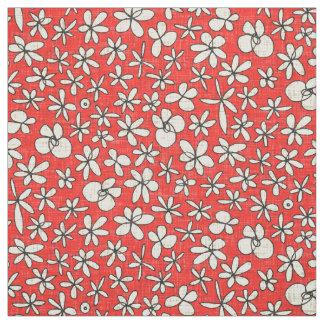 Tecido flores de festão vermelhas