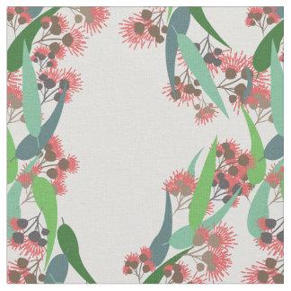 Tecido Flores do eucalipto