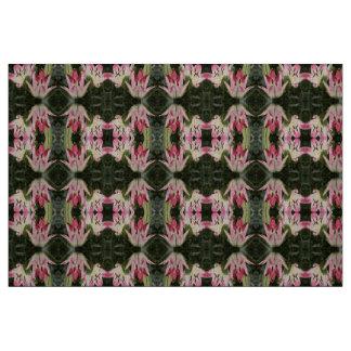 Tecido Flores e botões asiáticos do lírio do pirulito