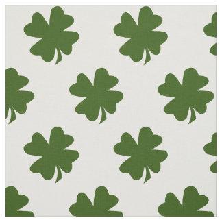 Tecido Folha quatro afortunada do trevo verde do trevo