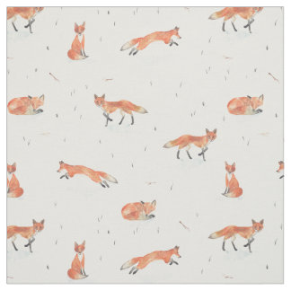 Tecido Fox do inverno