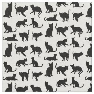 Tecido Gatos em algum fundo