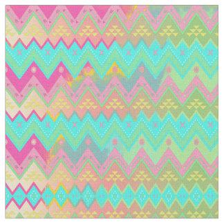 Tecido geométrico chique tribal da listra da