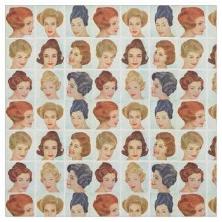 Tecido grade dos penteados dos anos 60
