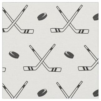 Tecido Hóquei x em preto e branco