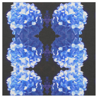 Tecido Hydrangea dos azuis cobaltos