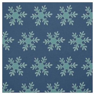 Tecido Ilustração azul do vetor do floco de neve