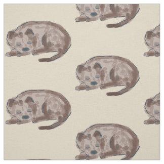 Tecido Ilustração do cão do sono
