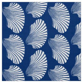 Tecido Impressão, azuis marinhos e branco de bloco de
