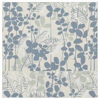 Tecido Impressão azul floral das flores da arte asiática