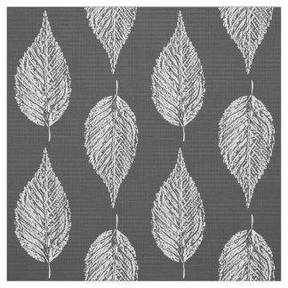 Tecido Impressão, cinzas/cinza e branco do giz da folha