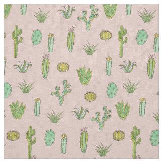 Tecido Impressão da arte do cacto na matéria têxtil