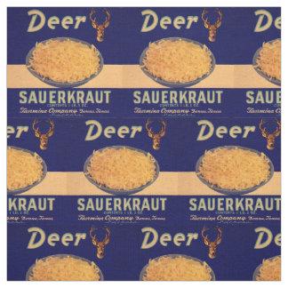 Tecido impressão da etiqueta do chucrute dos cervos dos