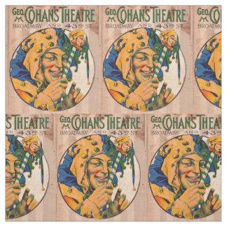 Tecido impressão do cobrir do playbill do teatro de Cohan