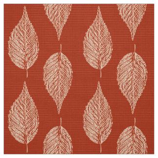 Tecido Impressão do giz da folha da faia, tanjerina