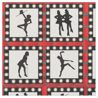 Tecido Impressão dos dançarinos da mostra da taberna da