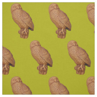 Tecido impressão marrom considerável da coruja