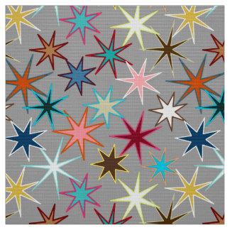 Tecido Impressão moderno de Starburst, cores da jóia em