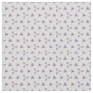 Tecido Impressão roxo & branco do Trillium