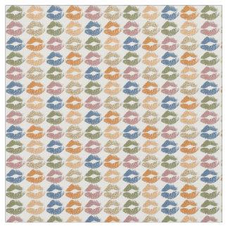Tecido Lábios coloridos retros