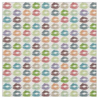 Tecido Lábios coloridos retros #16