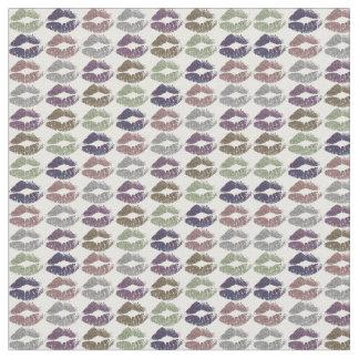 Tecido Lábios coloridos retros #19