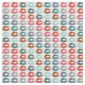 Tecido Lábios coloridos retros #33