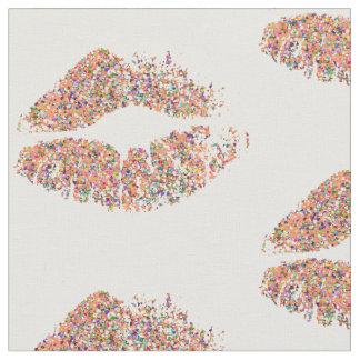 Tecido Lábios multicoloridos #25 do brilho