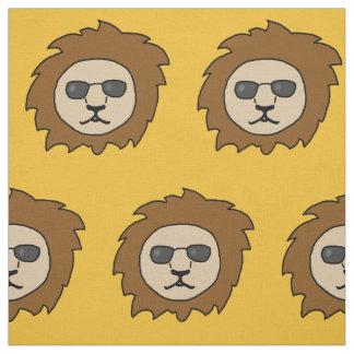 Tecido Leões legal com óculos de sol