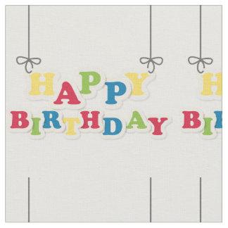 Tecido Letras do feliz aniversario