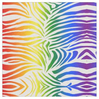 Tecido LGBT corajoso e brilhante do impressão da zebra do