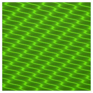 Tecido Linhas onduladas amarelas de néon teste padrão do