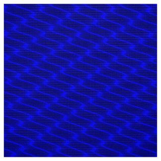 Tecido Linhas onduladas azuis de néon teste padrão do