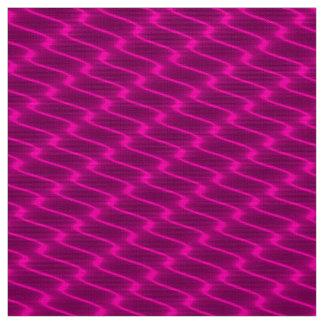 Tecido Linhas onduladas cor-de-rosa de néon teste padrão