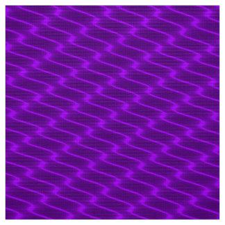 Tecido Linhas onduladas roxas de néon teste padrão do
