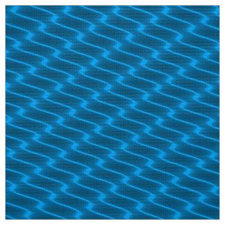 Tecido Linhas onduladas teste padrão de turquesa de néon