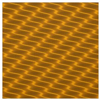 Tecido Linhas onduladas teste padrão do ouro de néon do