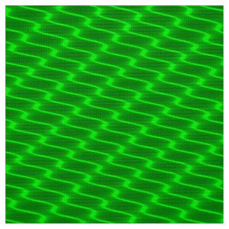 Tecido Linhas onduladas verdes de néon teste padrão do