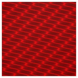 Tecido Linhas onduladas vermelhas de néon teste padrão do