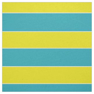 Tecido Listra azul e amarela do divertimento do verão