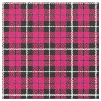 Tecido Listra branca do outono profundo/preta cor-de-rosa