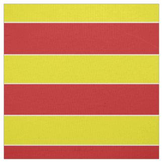 Tecido Listra vermelha e amarela do divertimento do verão