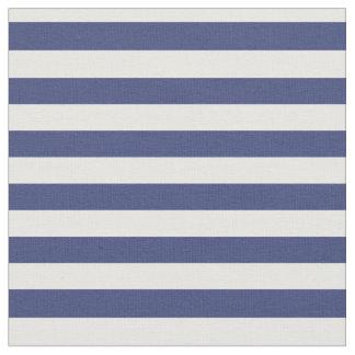 Tecido listrado azul e branco