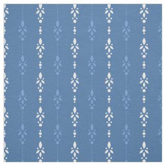 Tecido Listrado floral do olhar azul francês da sarja de