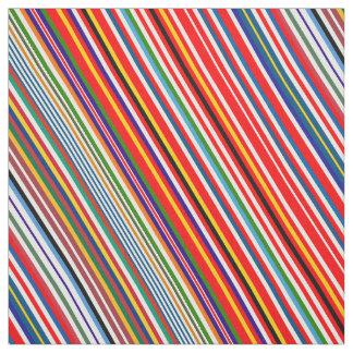Tecido Listras decorativas coloridas bonitos